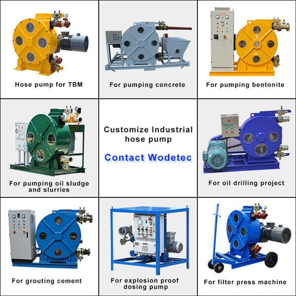 Construction used peristaltic pump