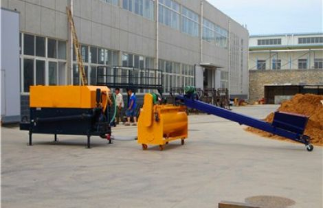CLC machine used for casting roof