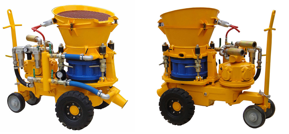 shotcrete machine with air motor