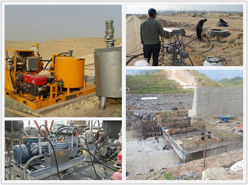 colloidal grouting pump system