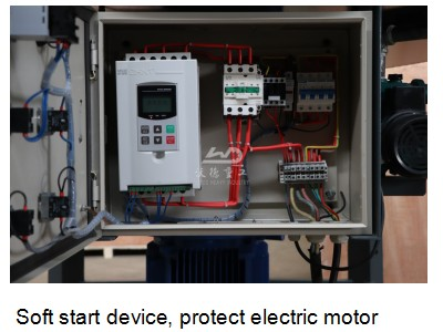Soft start device, protect electric motor