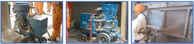 refractory spraying machine
