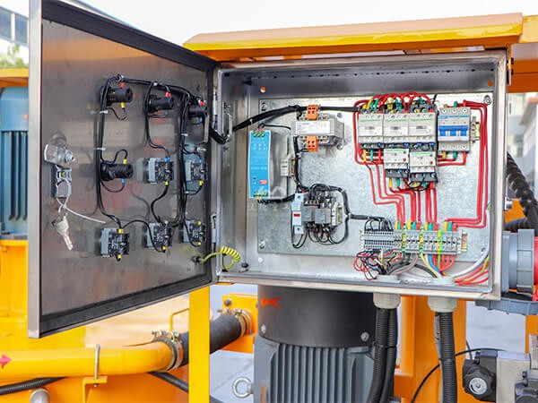 electric cabinet of compact grout unit