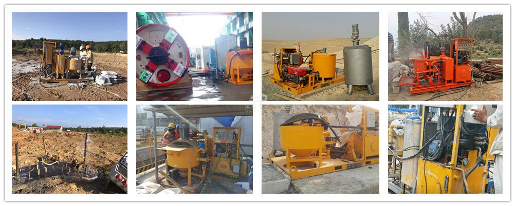 compact grouting unit application