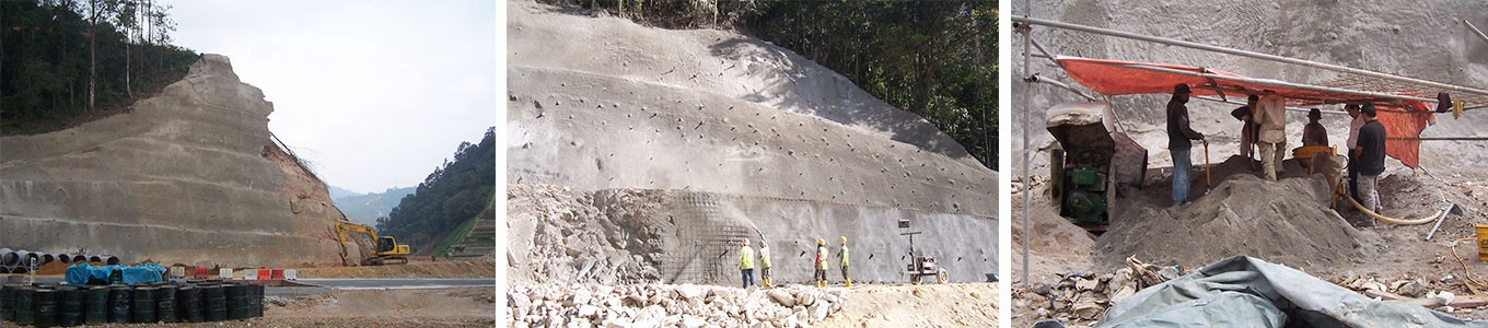Shotcrete-machine-application